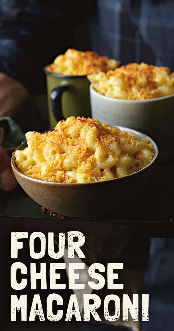 mac 'n cheese four times as awesome with this Four Cheese Macaroni ...