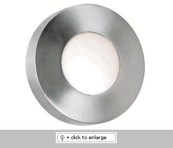 "Burst Large Round Wall Sconce    *Aluminum *Can Be Wall or Ceiling Mounted *Indoor or Outdoor Use    Glass/Shade: Colbalt Blue and White Opal Glass Included    UL Listed  Dimension: H. 4-7/8"", Diameter. 12""    Bulb: 1-75 Watt (JDE11) Bulb Included    Finish: Polished Aluminum Finish, Black Finish  Regular price: $168.00  Sale price: $142.99"