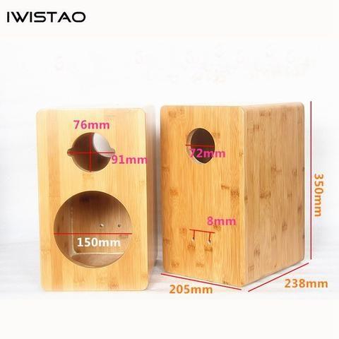 IWISTAO HIFI 100.100 Inch 100 Way Speaker Empty Enclosure Inverted 10