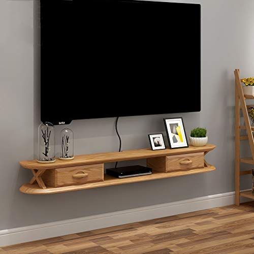 Solid Wood Wall Shelf Floating Shelf Wall Mounted Tv Cabinet Tv Stand Wall Decoration Shelf Wall Mounted Tv Cabinet Wall Mounted Tv Floating Shelf With Drawer