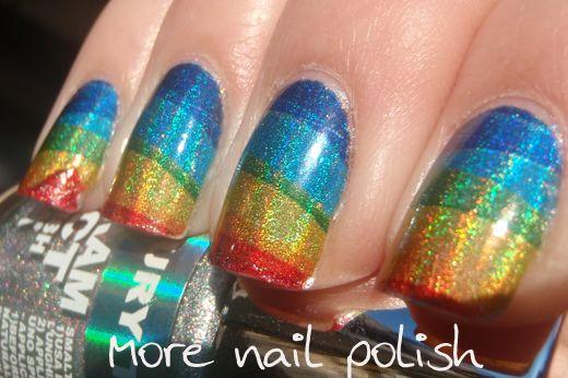 holo rainbows (from More Nail Polish)