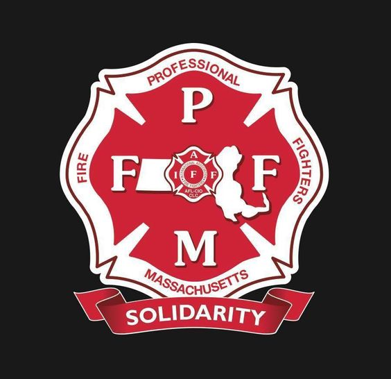"""The Current logo of the Professional Fire Fighters of Massachusetts (PFFM). Introduced in 2013 at the 40th Biennial Convention of the PFFM, it incorporated the word """"Solidarity"""" into the Logo."""