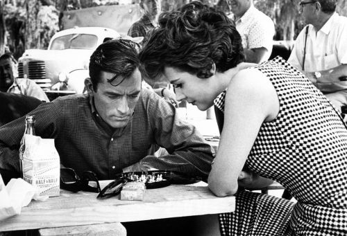 Gregory Peck & Harper Lee on the set of To Kill a Mockingbird (1962)