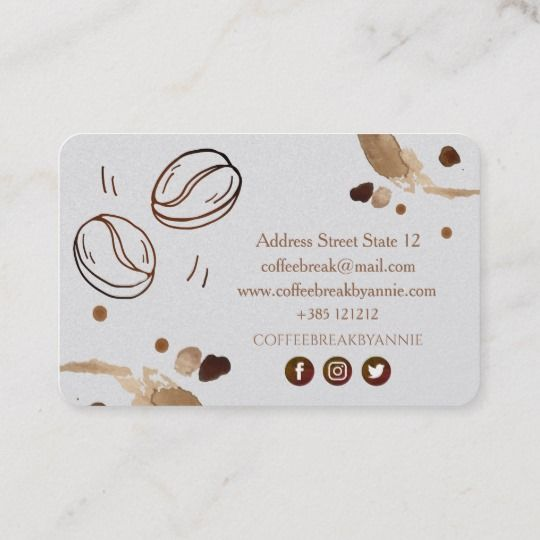 Coffee Stain And Beans Business Card Zazzle Co Uk Business Cards Creative Templates Coffee Shop Business Coffee Staining