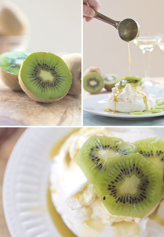 Kiwi & Champagne Pavolva! Totally Spring time!