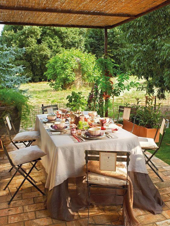Patio de revista el mueble home sweet home pinterest for Muebles para patio y jardin