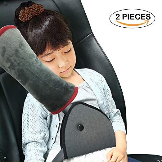 Travel Pillow and Seat Belt Covers