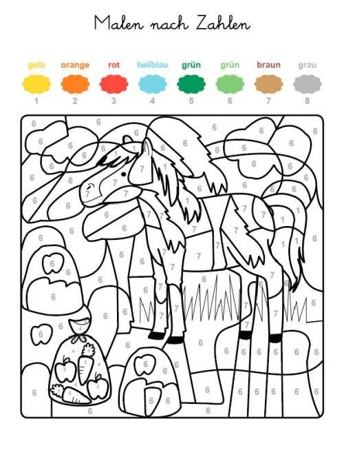 Malen Nach Zahlen Pferd Auf Der Koppel Ausmalen Zum Ausmalen Malen Nach Zahlen Kinder Malen Nach Zahlen Malen Nach Zahlen Vorlagen
