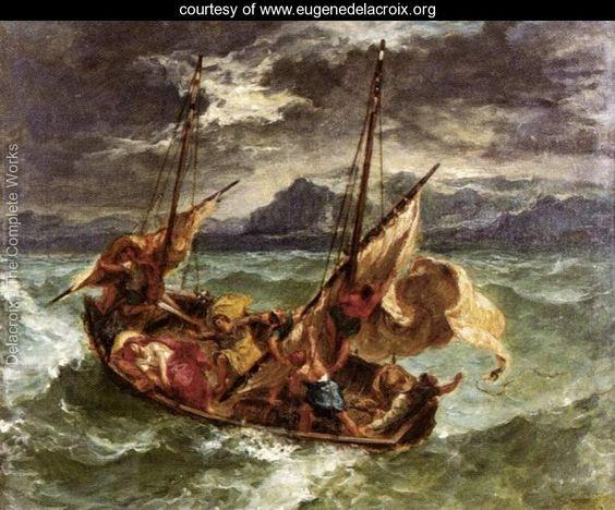 Christ on the Lake of Gennezaret 1854 - Eugene Delacroix - www.eugenedelacroix.org