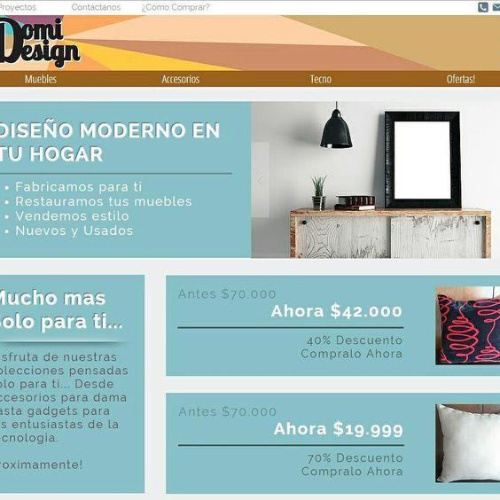 Entra y conoce lo que tenemos para ti!!! Todo en Muebles y accesorios de diseño para el hogar. Recuerda que siguiendonos en las redes sociales obtienes fabulosos descuentos, no te lo pierdas DomiDesign.com.co