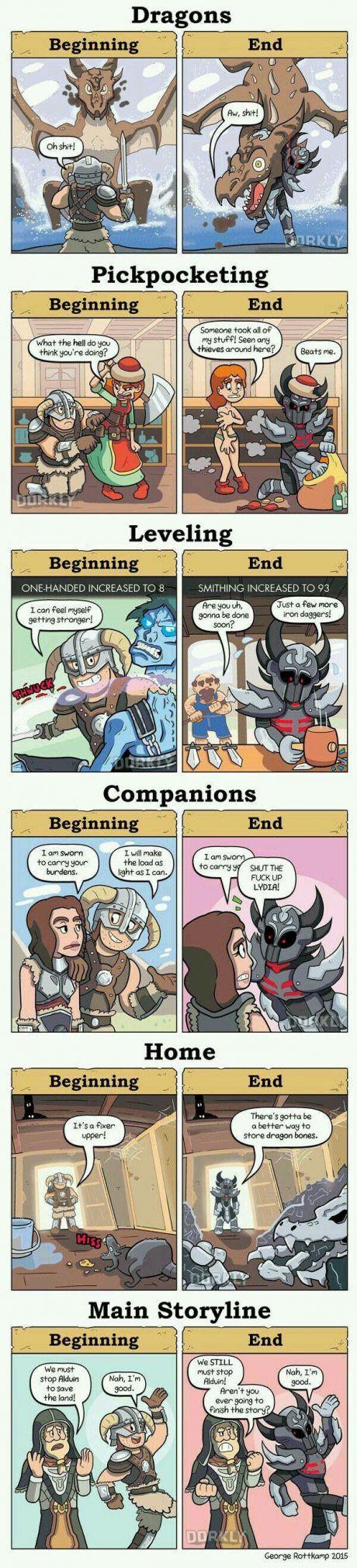 Skyrim: Beginning and End