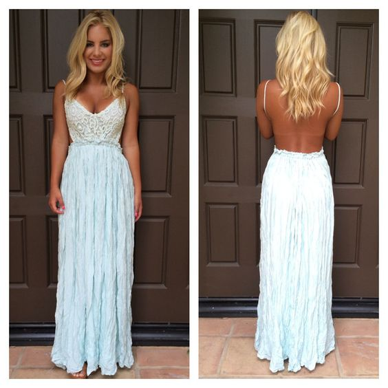 Evening in Paris Maxi Dress - MINT - Dainty Hooligan Boutique ...
