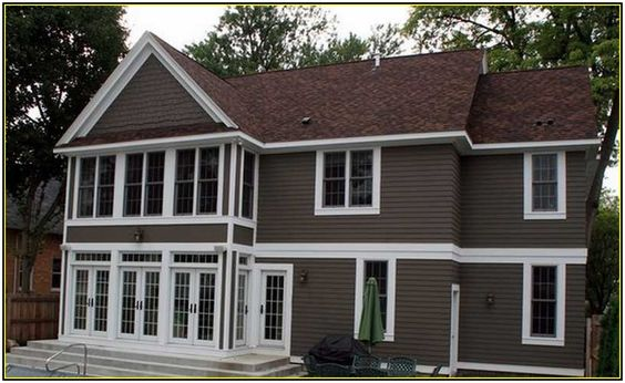 Brown roofs house exteriors and exterior paint on pinterest - House colors with brown roof ...