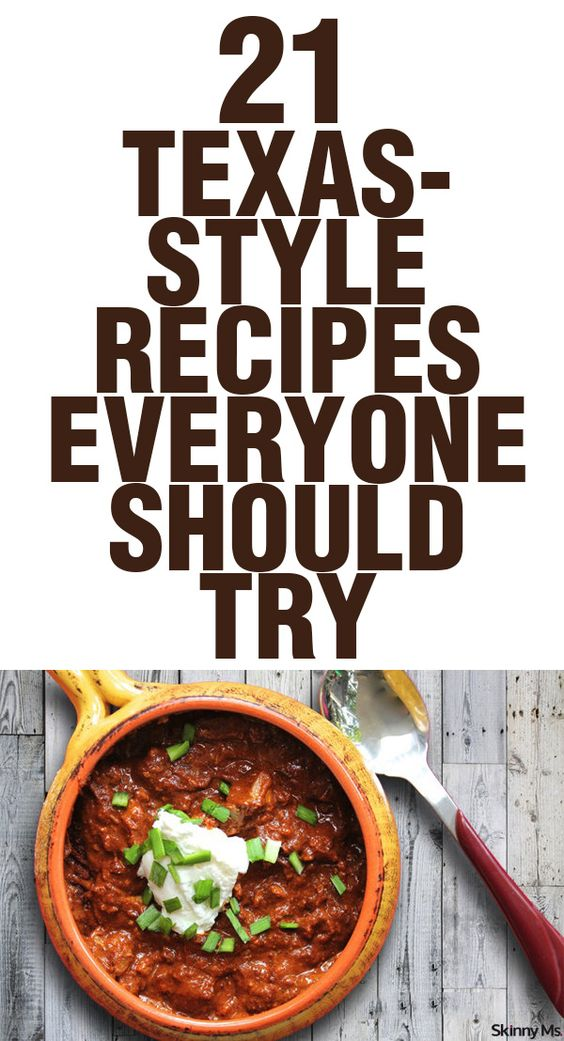 Delicious chili, awesome BBQ, tasty Tex-Mex... Texas has GOOD food! These are 21 Texas-Style Recipes Everyone Should Try!