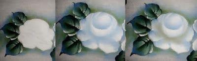 Pintura em Tecido Passo a Passo Com Fotos: Rosa Branca Passo a Passo Pintura em Tecido