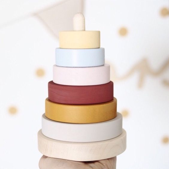 Have you seen our new stacking pyramid? Made from maple wood and customisable with your choice of colours. It's a toy which will be enjoyed by the whole family!