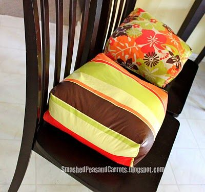 Booster seat cushions.