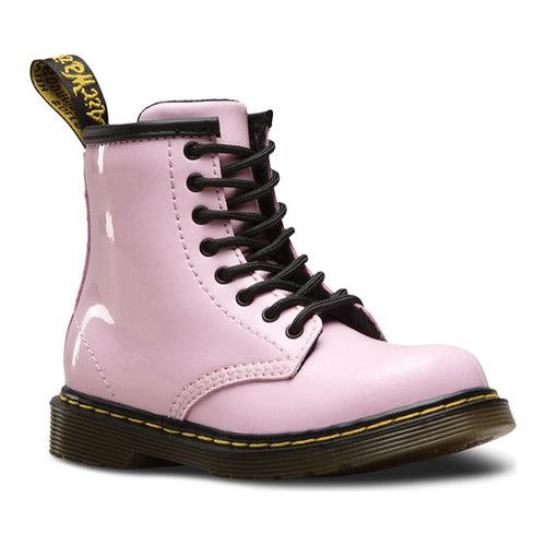 Baby Pink Patent Lamper Boots