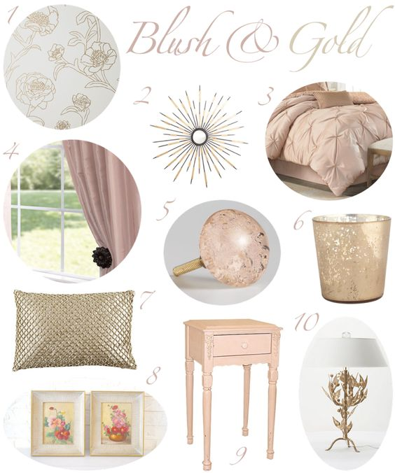 Bedroom Design Gold Funky Bedroom Chairs Street Art Bedroom Before And After Pictures Of Bedroom Makeovers: Blush And Gold Bedroom Decor