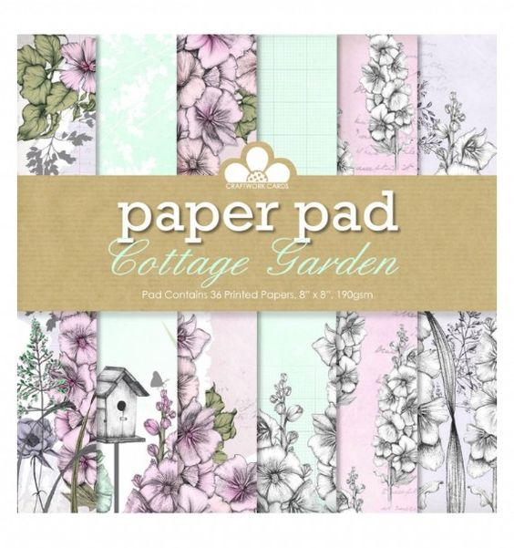 Craftwork Cards - Paper Pad - Cottage Garden Vu sur le site de Joanna Sheen (GB)