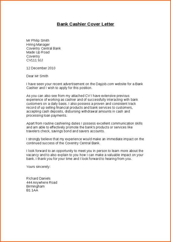 bank teller cover letternk cashier letter customer service advisor - cashier cover letter