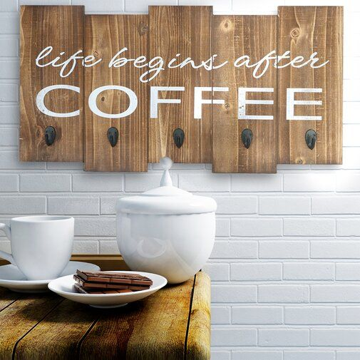 Life Begins After Coffee Wall Decor Decor Wall Decor Starburst