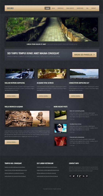 Oscuro, WordPress Responsive Portfolio Theme