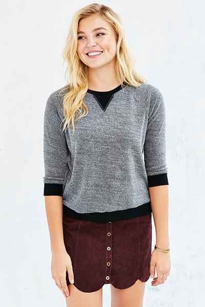 Project Social T Textured Thermal Sweatshirt - Urban Outfitters