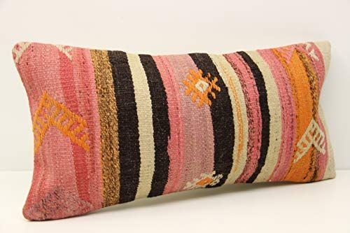 Ethnic kilim pillow cover 10x20 inch