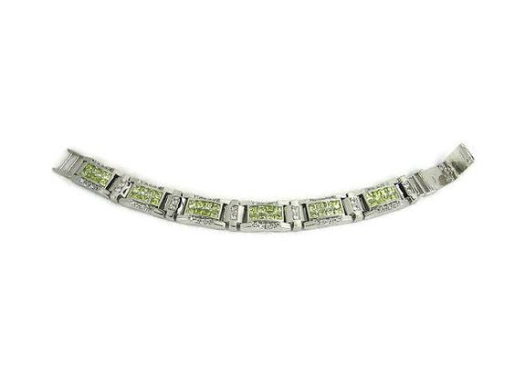 Sterling CZ Bracelet by VintageSparkleyBits on Etsy