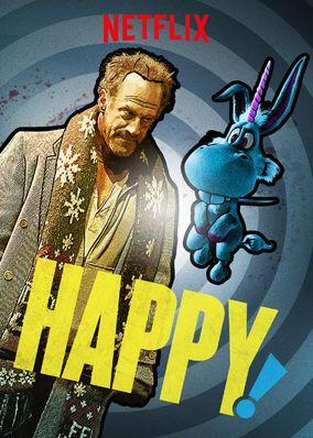 """No te pierdas """"Happy!"""" en Netflix  Imperdible!!! TIENE TODOS LOS CONDIMENTOS!"""