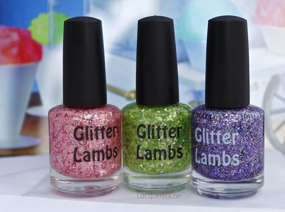 """FLASH GIVEAWAY!! 5-15-2014 GO ENTER NOW on Glitter Lambs Instagram page: http://instagram.com/p/oBgA96O79T/ Winner will be drawn tonight at 8:00pm cst.  All you have to do is leave the comment """"SNOWCONE"""" in the comment section on my instagram page and you will be automatically entered! I will announce the winner immediatly! Winner gets this Snowcone Collection of 3 for free! #nails #nailpolish #polishgiveaway #giveaway"""