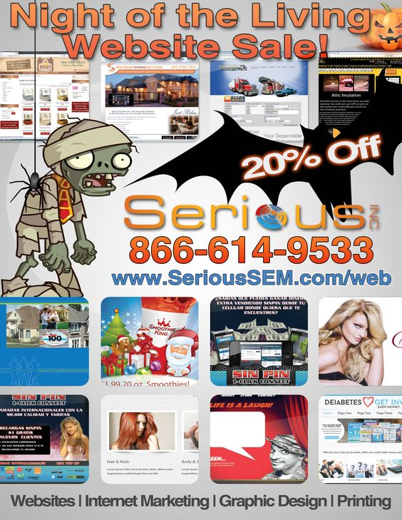 Website Design Sale! 20% off all websites with Serious SEM!   http://serioussem.com/lp/WebDesign/discountv2.php