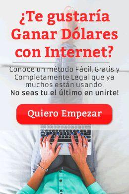 Conoce un método muy sencillo, totalmente gratuito (no requiere inversión) y legal, con el que muchos están ganando dinero en Internet. Me incluyo!
