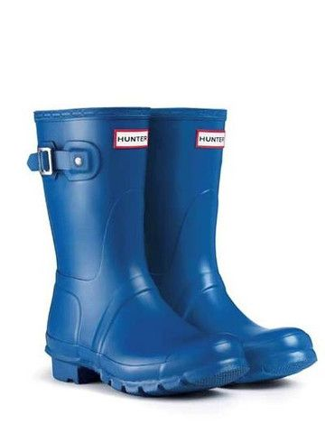 Hunter Original Short Rain Boots Denim Blue | Green, Hunter ...