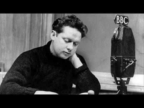 "Dylan Thomas, reciting his own poem: ""Do not go gentle into that good night."" always been one of my favorite poems. probably because the subject is so frightening."