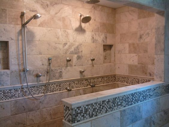 In Shower Bathroom Shower Dream Bathroom Master Bathroom Bathrooms Big