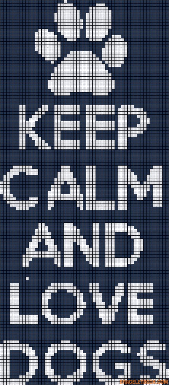 Minecraft Dog Knitting Pattern : Keep Calm and Love Dogs perler bead pattern Cross stitch Pinterest DIY ...