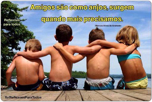 Amigos são como anjos... Clique na imagem e encontre esta e muitas outras reflexões, mensagens...