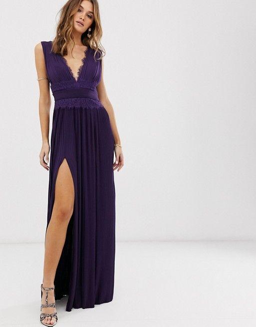 32++ Asos premium lace insert pleated maxi dress trends