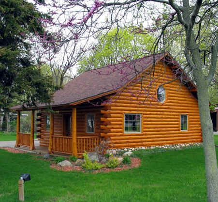 Log home plans designs log cabin kits gastineau oak for Cabin designs and prices