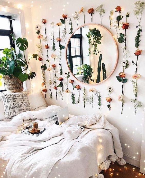 Bedroomideas Bedroomdecoration Flowers Bohoroom Bohemiandecoration Modernmirr Bohemian Interior Design Bedroom Aesthetic Room Decor Room Inspiration