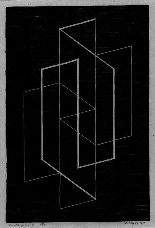 Multiplex A by Josef Albers, 1947.
