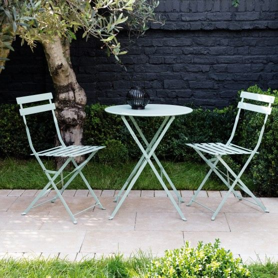 Small Bistro Table And Chairs Wrought Iron White Garden Patio Garden Patio Furniture F Metal Garden Furniture Garden Furniture Sets Garden Patio Sets