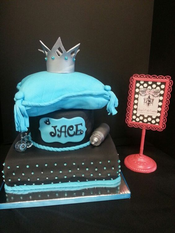 Little Prince Pillow Top Baby Shower Cake by Jacqui's Cake Creations