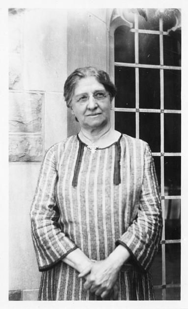 Botanist Carrie M. Derick (1862-1941) was the first female university professor in Canada, and became a full professor at McGill University in 1912. This photograph may have been taken by journalist Watson Davis at the British Association of Science meeting, Toronto, Canada, August 1924  Cite As:      Acc. 90-105 - Science Service, Records, 1920s-1970s, Smithsonian Institution Archives