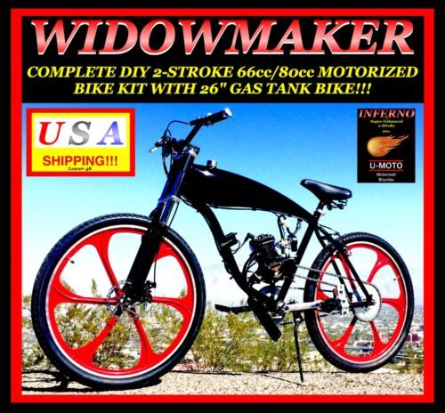 Details About Complete Diy 2 Stroke 66cc 80cc Motorized Bicycle