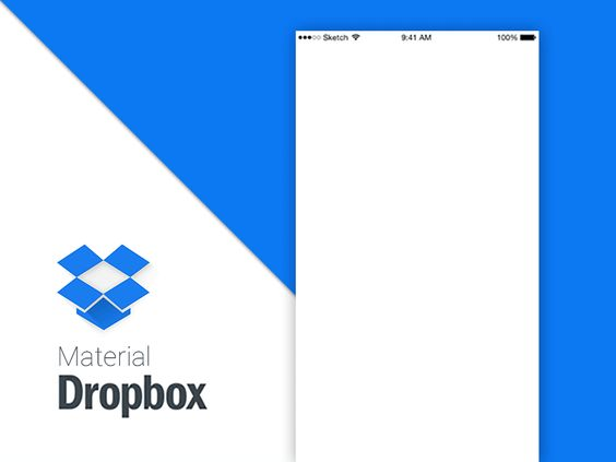 Dropbox - Material Redesign Concept