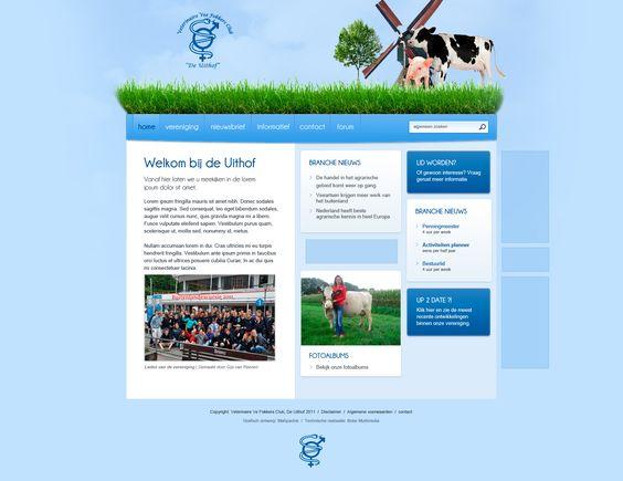 """Website voor studentenvereniging """"De Uithof"""" in Utrecht."""