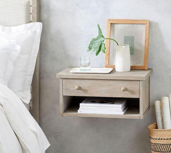 Nightstands Bedside Tables Pottery Barn Floating Shelves Bedroom Bedroom Night Stands